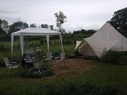 Fire Pit Gazebo by Bell Tent And Fire Pit Gazebo Was Our Own Picture Of The