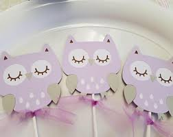 purple owl baby shower decorations owl baby shower etsy