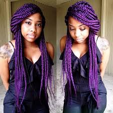 weave hairstyles with purple tips 65 box braids hairstyles for black women