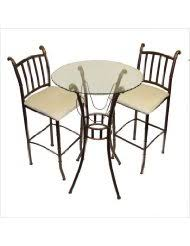 Indoor Bistro Table And 2 Chairs 3 Piece Indoor Bistro Set Whereibuyit Com By The Sea