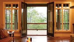 Center Swing Patio Doors Hinged Patio Doors Doormasters Inc Intended For Hinged