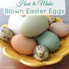 blown easter eggs how to make blown easter egg decorations homestead network