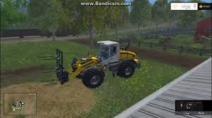 farmingsimulator2015 bale fork for wheelloader youtube