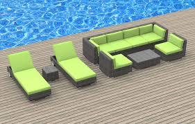 Green Wicker Patio Furniture - ibiza 10pc ultra modern wicker patio set www urbanfurnishing net