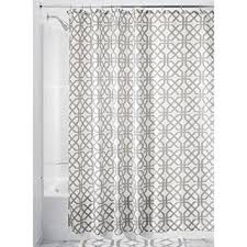 Gray Shower Curtains Fabric Interdesign Trellis Fabric Shower Curtain 72 X 72