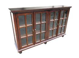 Bookshelf Glass Doors Bookcase Storage Bookcase With Glass Doors Tall Mahogany