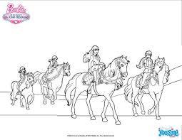 coloriages le cheval de barbie fr hellokids com