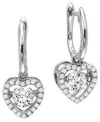 heart shaped diamond earrings rhythm of earrings