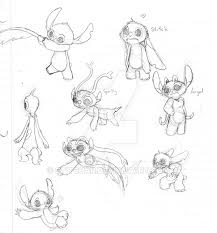 lilo and stitch sketches of tests by stitchar on deviantart
