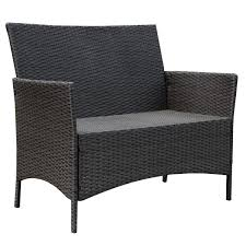4pcs Simple Style Sofa Set Costway 4 Pc Patio Rattan Wicker Chair Sofa Table Set Outdoor