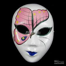 decorative masks party mask for masquerades white paper mache women
