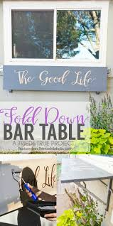 remodelaholic easy diy outdoor fold down bar table