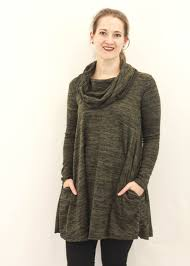 cowl sweater cowl neck sweater tunic olive modli