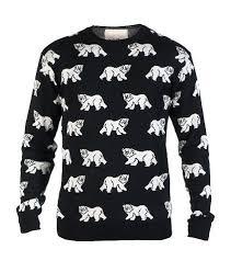 sweater brands decibel all pattern jacquard sweater black dc13151002