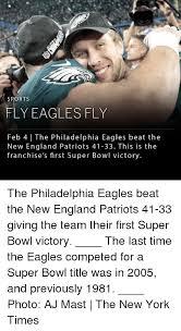 Philadelphia Eagle Memes - sports fly eaglesfly feb 4 the philadelphia eagles beat the new