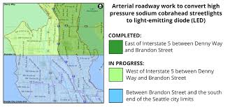 Seattle Street Map by Report Streetlight Out