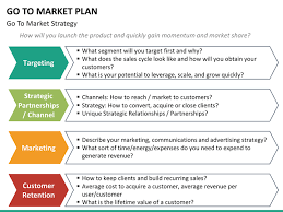 Go To Market Plan Template Ppt Best Market 2017 Sle Ppt Templates