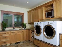 Basement Bathroom Laundry Room Combo Unfinished Basement Laundry Room Makeover Design With Red Flooring
