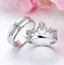 couples wedding rings extraordinary sweetheart crown and cross his and