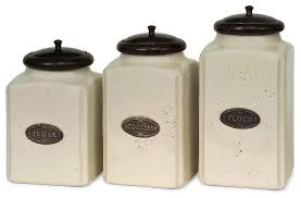 kitchen jars and canisters domingo canisters set of 3 ivory traditional kitchen