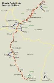 Alsace Lorraine Map Moselle River Bike Route Freewheeling France