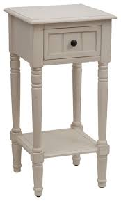 Accent Table With Drawer Simplify Accent Table With Drawer Antique White Rustic Side