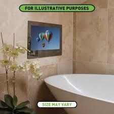 Mirror Bathroom Tv Proofvision 24 Inch Waterproof Bathroom Tv With Mirror Finish At