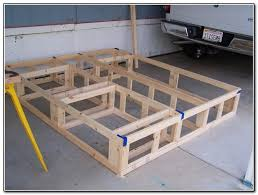 Diy Platform Bed Plans Furniture by California King Platform Bed Frame Plans Diy Useful