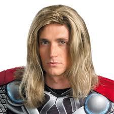the avengers men u0027s thor wig costume accessory thor costumes