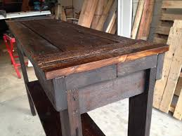 diy rustic stained pallet sofa table and entry table pallet