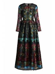 colorful dress colorful vintage print maxi voile dress black maxi dresses l zaful