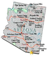 us map arizona state arizona state maps usa maps of arizona az guide to researching