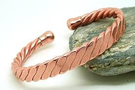 copper bangle bracelet images Magnetic men 39 s heavy flattened copper bracelet magnets bangles jpg