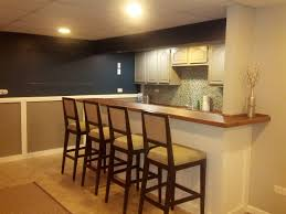 modest basement bar ideas with brown granite counter top combined