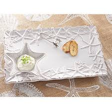 starfish platter mud pie 10218 chip and dip starfish platter white g willikers
