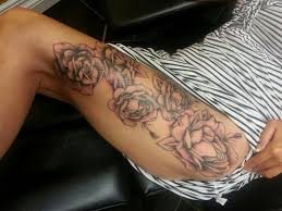 rose thigh tattoos designs ideas and meaning tattoos for you