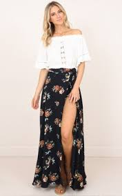 maxi skirt skirts floral denim mini midi maxi skirts online showpo