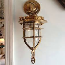Family Room Light Fixture by Antique Family Room Area With Brass Convoy Sconce Nautical Light