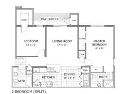 Split Two Bedroom Layout Springfield Mo Apartment Home Hawthorn Suites