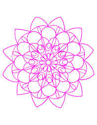 free coloring pages printable pink mandala tatoo queenmandala com