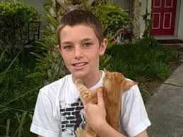 11 year boy saves kitten s