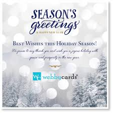 electronic new year cards winter non animated corporate ecard mobile