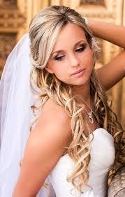 casual long hair wedding hairstyles wedding hairstyles for medium hair half up down with veil 2017