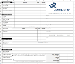 Lawn Maintenance Invoice Template by How To Design A Landscaping Form In Excel