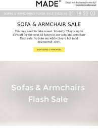 Sofas And Armchairs Sale Made Com Sofa U0026 Armchair Flash Sale Milled