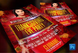 thanksgiving photo effects thanksgiving eve party flyer template hotflyers net blog