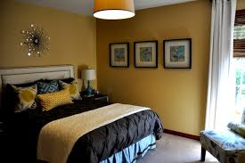 mustard yellow paint color contemporary bedroom sherwin