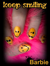 smiley nails nail design of the classic yellow really cute