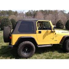 black jeep wrangler unlimited top off rugged ridge 13790 35 montana top bowless black diamond 97 06 tj