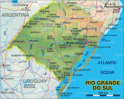 Rio On Map Map Of Rio Grande Do Sul Porto Alegre Brazil Map In The